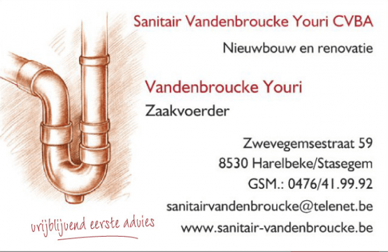 Sanitair Vandenbroucke Youri CVBA